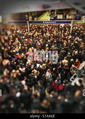 Delays on National Train service, UK - Stock Image