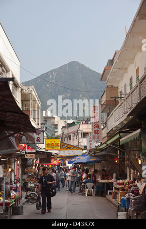 Tai O fishing village, Lantau Island, Hong Kong, China - Stock Image