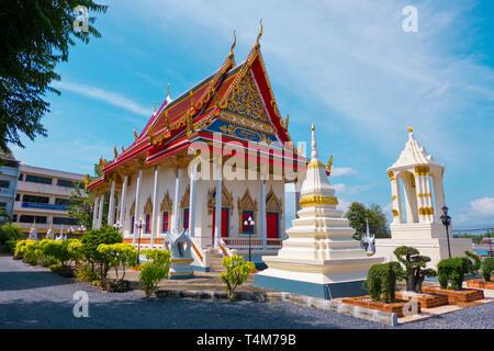 Pagoda, Wat Klang, Surat Thani, Thailand - Stock Image