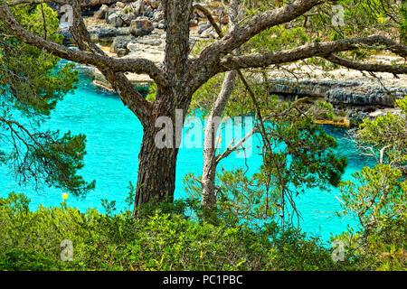 Cala Llombards (beach) - Stock Image