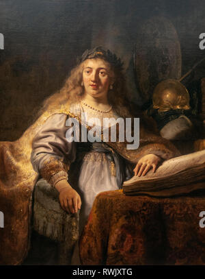 Rembrandt van Rijn, Minerva in Her Study, The Metropolitan Museum of Art, Manhattan, New York USA - Stock Image