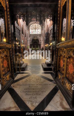 Manchester Cathedral interior, Manchester City, Lancs Lancashire, England UK - Stock Image