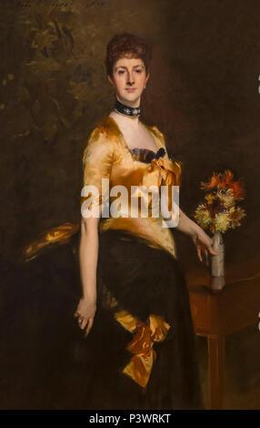 Edith, Lady Playfair, John Singer Sargent, 1884, Museum of Fine Arts, Boston, Mass, USA, North America - Stock Image