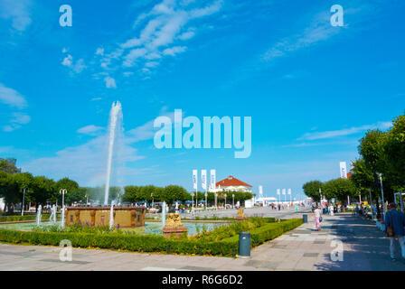 Skwer Kuracyjny, Plac Zdrojowy, Sopot, Poland - Stock Image