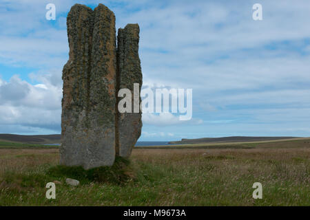Stone of Setter, Eday, Orkney - Stock Image