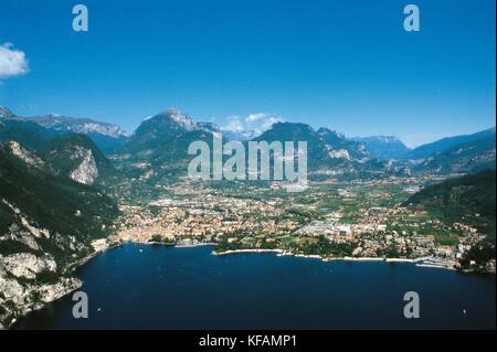 Trentino Riva del Garda Lake Garda - Stock Image
