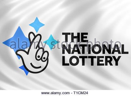 National Lottery logo sign - Stock Image