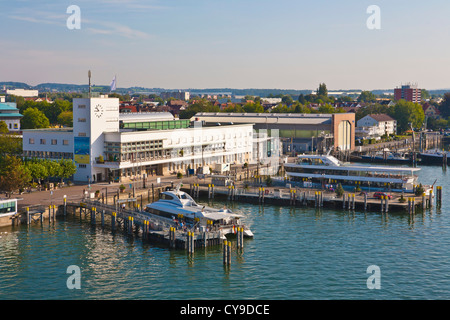 ZEPPELIN MUSEUM AT THE HARBOUR IN FRIEDRICHSHAFEN, LAKE CONSTANCE, BADEN-WURTTEMBERG, GERMANY - Stock Image