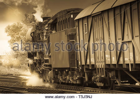 Steam train 41 1150 from 1939 - Stock Image