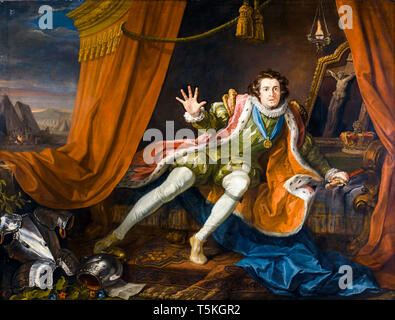 William Hogarth, David Garrick as Richard III, painting, c. 1745 - Stock Image
