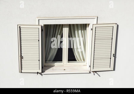 Roof window with roller shutter . - Stock Image