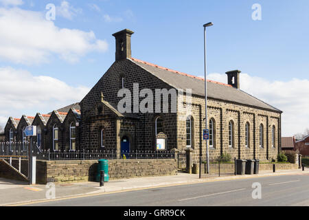Greenmount URC Old School, dating from 1848.The Old School is now used extensively for village community activities. - Stock Image