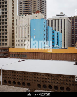 Elevated view of Durban facades. Pioneer Place, Durban, South Africa. Architect: designworkshop : sa, 2016. - Stock Image