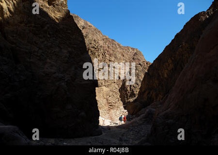 People walking in Wadi Wish Wash. Nuweiba. South Sinai. Egypt - Stock Image
