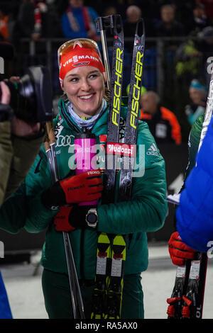 Denise Herrmann (GER). JOKA Biathlon World Team Challenge 2018 auf Schalke. - Stock Image