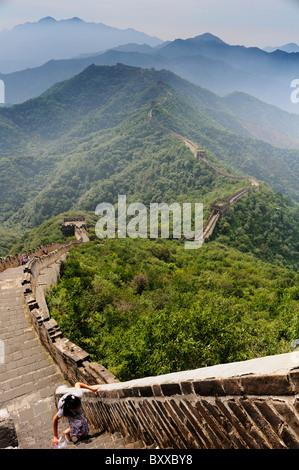 The Great Wall, Mutianyu, China - Stock Image