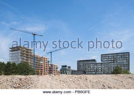 Woolwich Central and Wellington Quarter construction, Woolwich - Stock Image
