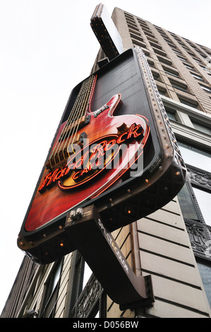 Hard Rock Cafe restaurant, New York, USA - Stock Image