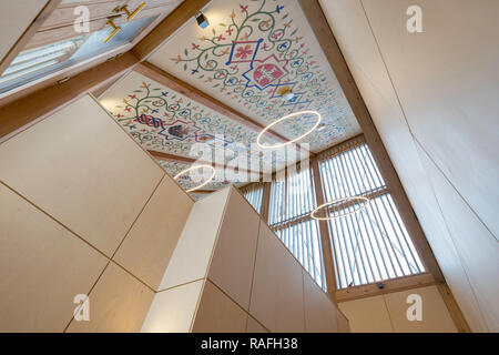 Interior of Auckland Tower visitor centre, Bishop Auckland, Co. Durham, England, UK - Stock Image