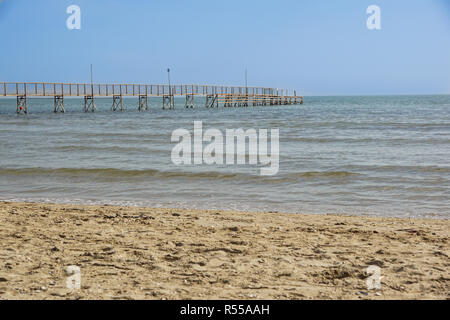 Pier walk by the sea - Stock Image