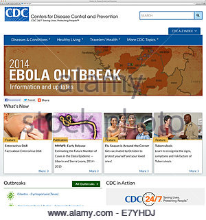 Centers for Disease Control and Prevention home page www.cdc.gov - Stock Image