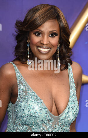 London, UK. 09th May, 2019. LONDON, UK. May 09, 2019: Kellie Bryan at the 'Aladdin' premiere at the Odeon Luxe, Leicester Square, London. Picture: Steve Vas/Featureflash Credit: Paul Smith/Alamy Live News - Stock Image