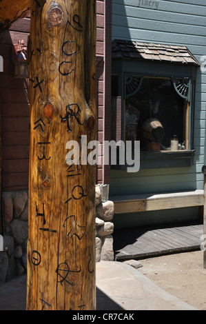 Old wild west reenactment in Williams, Arizona (old Route 66 town) - Stock Image