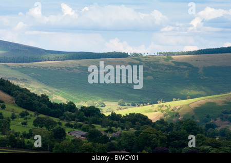 Scenic view on the Pennine way in the Derbyshire dales (Peak district). - Stock Image