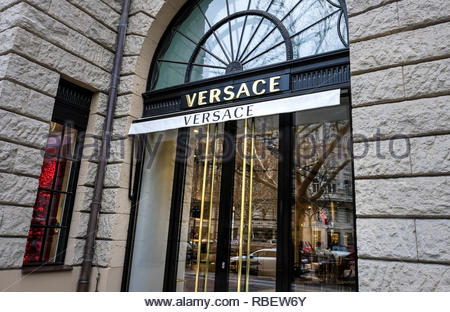 Versace store - Stock Image