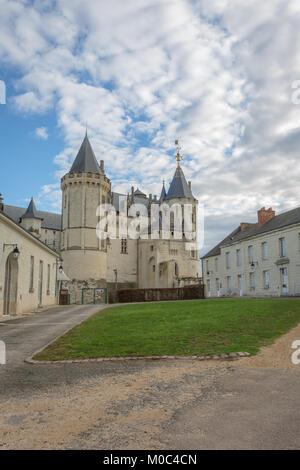 Exterior of Chateau de Saumur (castle of Saumur), Maine-et-Loire, France - Stock Image