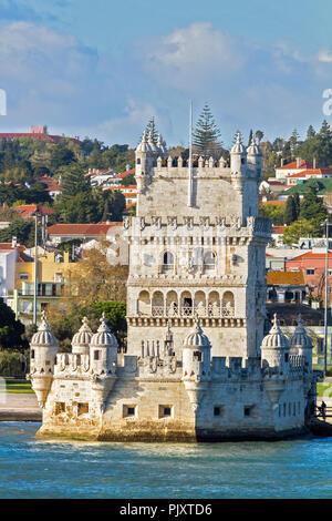 Belem Tower Lisbon Portugal - Stock Image
