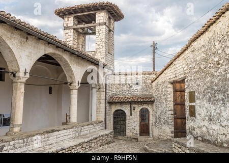 Bell tower  Berat Castle Old Town Orthodox Church Albania - Stock Image