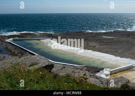 Trinkie Sea Pool, Wick, Scotland - Stock Image