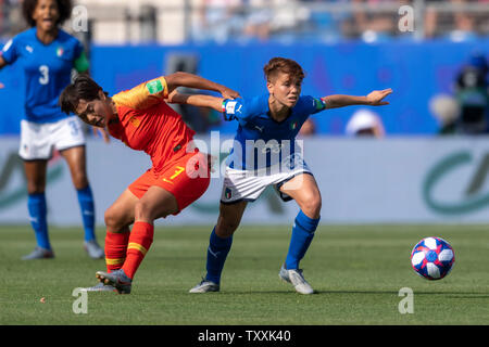 Montpellier, France. 25th June 2019. during the FIFA Women's World Cup France 2019 Round of 16 match between Italy 2-0 China at Stade de la Mosson in Montpellier, France, June25, 2019. Credit: Maurizio Borsari/AFLO/Alamy Live News - Stock Image