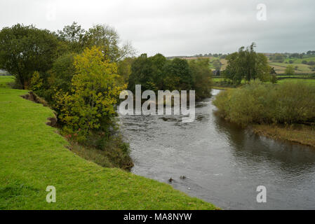 The River Wye near Llyswen (Glangwye) - Stock Image