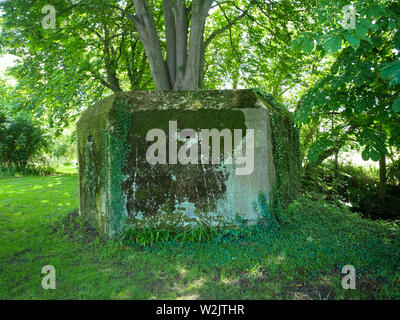 Pillbox Military, on the Ridgeway Ancient Path, South Stoke, Oxfordshire, England, UK, GB. - Stock Image
