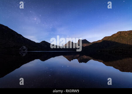 Cradle Mountain by night, Tasmania - Stock Image