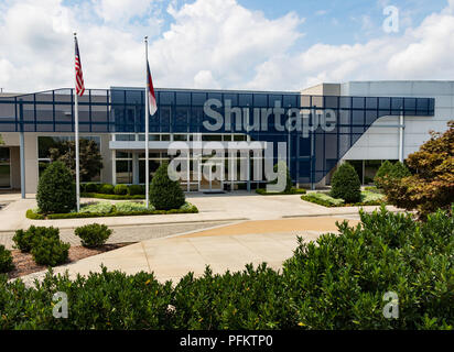 HICKORY, NC, USA-20 AUG 2018: Suretape is a manufacturer and worldwide marketer of adhesive tape, and consumer home and office products. - Stock Image