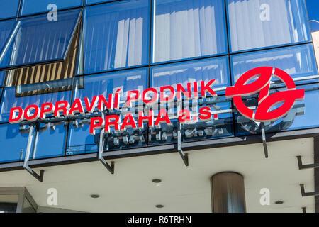 Dopravni Podnik logo, Praha - Stock Image