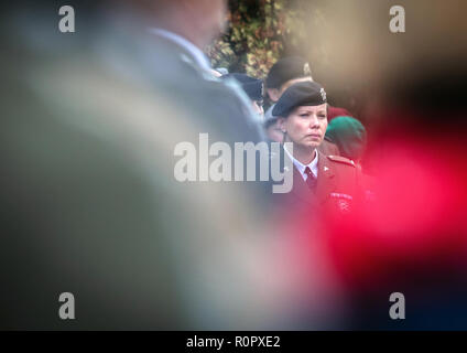 Prachatice, Czech Republic. 07th Nov, 2018. Hundreds of people attended the funeral with military honours of Czech soldier Tomas Prochazka, who was killed by a local assailant in Afghanistan in October, at a cemetery in Prachatice, Czech Republic, where he came from, on November 7, 2018. Credit: Tomas Binter/CTK Photo/Alamy Live News - Stock Image