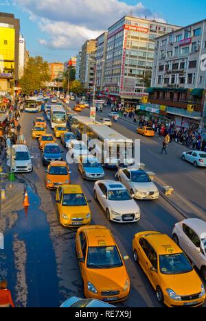 Traffic congestion, Ziya Gokalp caddesi, Kizilay, Ankara, Turkey, Eurasia - Stock Image