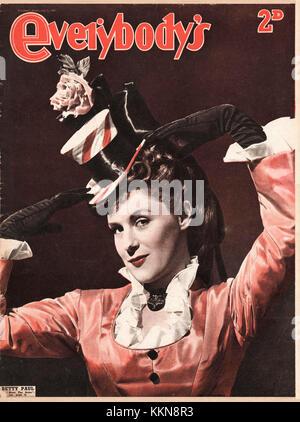 1947 Everybody's Magazine Betty Paul - Stock Image