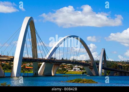 Arches Juscelino Kubitschek Bridge Brasilia Brazil - Stock Image