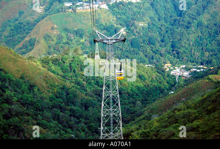 Merida Cable Car Venezuela The Longest Cable Car in the World - Stock Image
