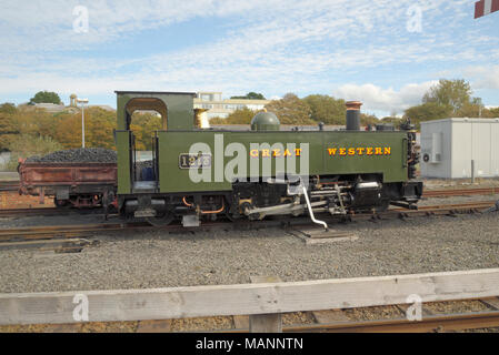 Locomotive: Great Western at Aberystwyth Station - Stock Image