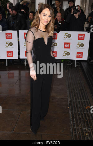 London, UK. 12th Mar, 2019. LONDON, UK. March 12, 2019: Katie Piper arriving for the TRIC Awards 2019 at the Grosvenor House Hotel, London. Picture: Steve Vas/Featureflash Credit: Paul Smith/Alamy Live News - Stock Image