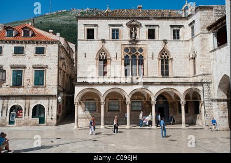 Sponza palace, Palazzo Sponza, Dubrovnik, Dubrovnik County, Croatia, Europe - Stock Image