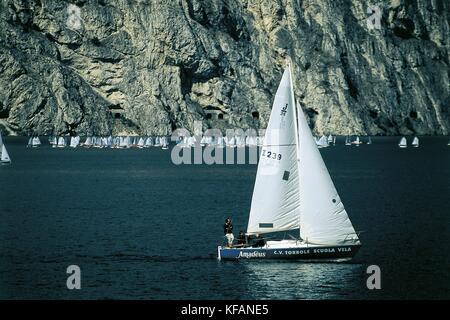 Trentino Riva Del Garda Sailing - Stock Image