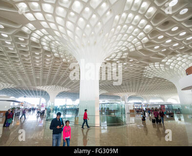 Departure hall inside Terminal 2 at Chhatrapati Shivaji airport in Mumbai India - Stock Image