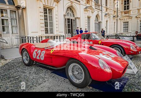 Piedmont Turin - Turin auto show 2019  - Valentino park - Valentino castle - Ferrari 250 Testarossa - Stock Image